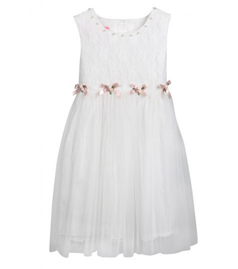 Kids dress (Year 2-7) White and Pink
