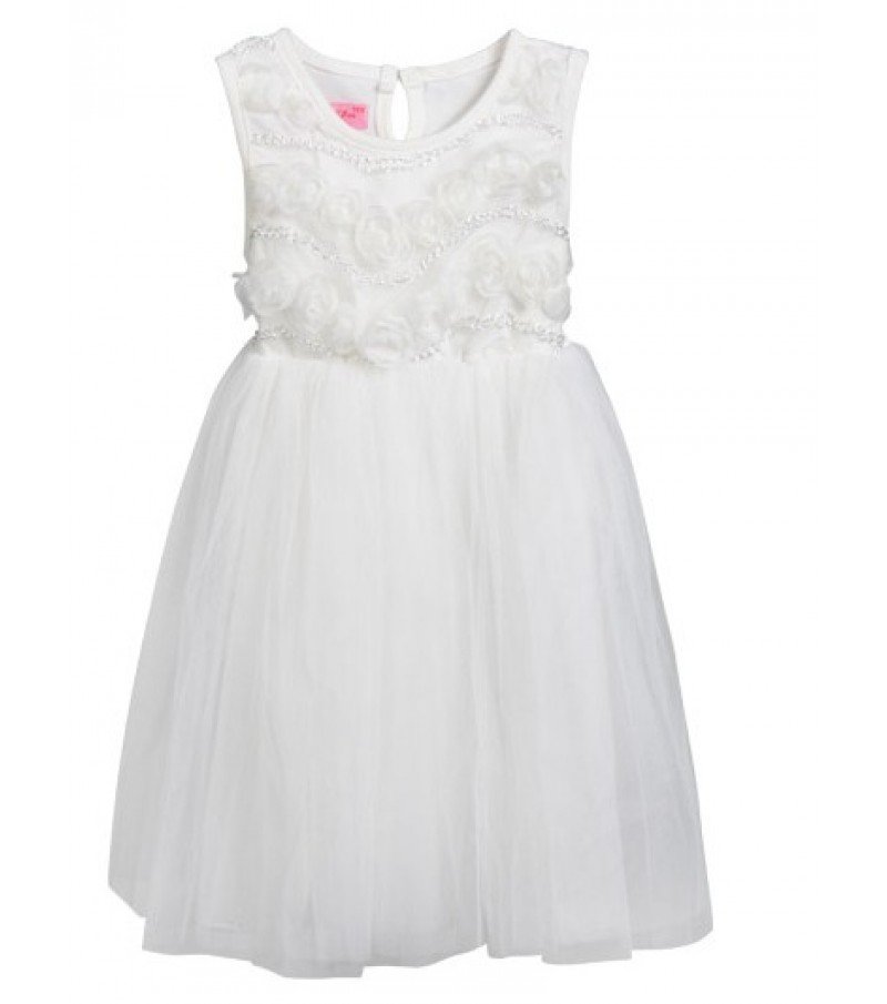 Kids dress (Year 2-7) White Red and Rose